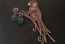 wire wrapping / beauty of wire wrapped jewelry
