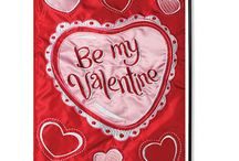 Valentine Decorative Flags / Outdoor decorative Happy Valentine's Day House and Garden Flags to add to your garden decor.