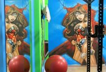 Gym murals