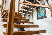 Custom Project - One Sector Construction - Staircase / Beautiful timber and wire balustrade staircase built by One Sector Constructions.