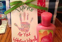 Parent volunteer gifts