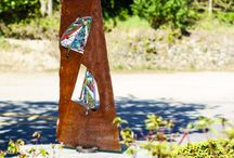Castlegar Sculpturewalk 2015 / Sculptures featured in Castlegar Sculpturewalk's 2015. Castlegar Sculpturewalk is an annual exhibition of outdoor public sculpture, located in Castlegar, British Columbia, The Sculpture Capital of Canada™. The public can vote for their favourite piece - the winner of the People's Choice award is purchased by the city for their permanent collection.