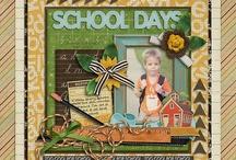 Scrapbooking SCHOOL layouts