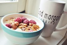 A bloggers food.  /  Best way to start your day is with a good breakfast. So try this one!  Vanilla yoghurt, nuts, raspberry and mashed cookies.