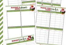 Planners & Printables / Daily planner pages, weekly planners, project planners, to-do lists, chore charts, cleaning printables, party planning printables, holiday printables, home management printables, calendar printables, shopping list printables, business growth printables, business planners
