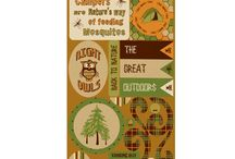 Camping Scrapbooking / Scrapbooking Camping layouts & products
