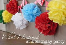 Birthdays and Parties / Ideas for planning those big events!