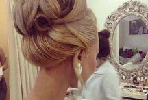 Prom hair, makeup.
