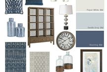 Decorating-blue and grey