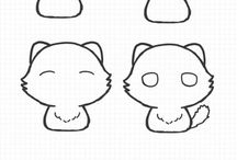 pisici de desenat