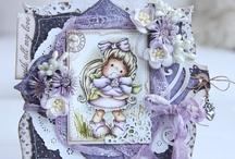 Cards magnolia/tilda stamp