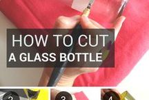 Cut glass bottle