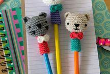 pupazzi crochet per matite