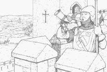 Középkori színezők -Coloring-medieval