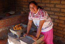Carina Santiago, Teotitlan del Valle / Carina Santiago, traditional cocinera, at her family's restaurant, Tierra Antigua, in Teotitlan del Valle, Oaxaca.