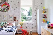 // fun & bright kids spaces // / Colourful kids rooms. Colour = fun!  / by Young Folk Store