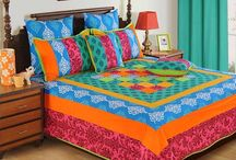 Different prints and vibrant colors of Bed Covers / Make your beds look more trendy and prim prom, as you enjoy the stretched look of these bed covers hugging your beds tightly. Experiment with different prints and vibrant colors and see how they work their magic in your bed room decor.