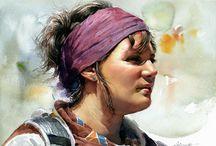 Watercolour Portraiture
