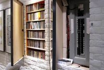 Livingroom wall bookshelf