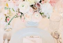 Wedding table setting / Inspiration for table settings