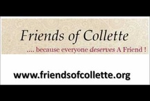 Friends of Collette / This is the nonprofit organization I work for Friends of Collette. www.friendsofcollette.org.   Our mission is to be be the social networking site exclusively for the millions of young adults with special needs. The non-disabled community has access to a variety of social networks that aid in enriching one's life.  With Friends of Collette the special needs community will now have the same ability to link, match, and access resources online within their peers.  Members of the Friends of Collet / by Jamie Carille