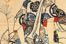 Японская живопись (люди)