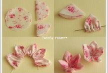 fabric origami and stitching