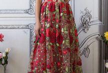 vestido fiesta floreados