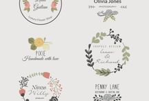 Floral logo template