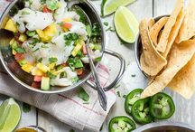 Ceviche / Ceviches, Agua Chile, Crudos and Seafood Cocktails