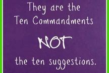 The Ten Commandments / The Ten Commandments of God. / by I ♥ Jesus Christ