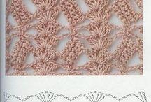 varios pontos de crochet