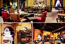 Starbucks,South Mumbai / The principle designers at Kanchi assisted seniors designers of Starbucks (Seattle) and incorporated a local décor for the store yet standing true to the essence of Starbucks. Besides designing the store, they have also produced and supplied all furnishings in the iconic stores of Starbucks at the Taj as well as Fort. They took advantage of the luxuriously high ceiling which is a common feature of the old buildings of the city.