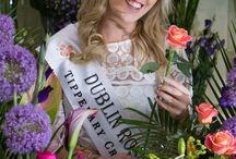Mary and the Dublin Rose 2016 Lorna / Mary our head florist and the Dublin Rose 2016 Lorna