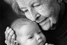 { Newborn and grandmother }