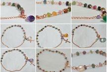 Bracelets / Hand made bracelets with 925 silver in copper and gold color