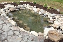 Amy's Pond / A story in pictures of how a DIYer built a pond with a pond kit and some elbow grease.