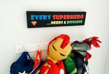 Superhero Bedroom / The ultimate boys bedroom theme! Superhero decoration bedroom ideas