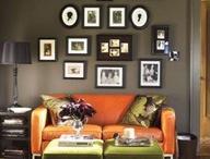 Home Design - Orange couch
