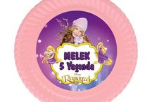 Rapunzel Doğum Günü Ürünleri / Rapunzel Kişiye Özel Parti Malzemeleri