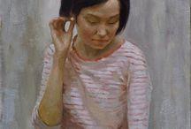 Portraits / Portraits, women portraits, painting, oil painting.  Inspiration.