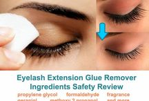 "EYELASH EXTENSIONS GLUE / Everything you need to know about eyelash extensions glue! Find out the SHOCKING TRUTH about professional salon eyelash adhesive ingredients safety and risks associated with improper permanent eyelash glue application! Learn about the different types of lash extensions glue for your mink lash extensions, MYTHS associated with terms ""MEDICAL GRADE"" and ""SURGICAL GLUE"", and chemical and natural eyelash extensions glue remover options."