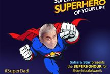 #SuperDad Father's Day #Contest on #Twitter / Here are some of the beautiful contest entries by our participants of the #SuperDad #twitter #contest! Don't miss the customised #superselfies designed by us for our participants.  / by Hotel Sahara Star