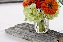 Flowers/decor  / for rustic chic wedding / by Ericka Gibbs