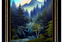 Bob Ross Painting Style