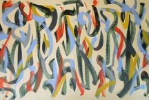 Abstract Paintings / gestural paintings, acrylic on canvas