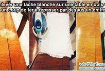 comment enlever une tache blanche sur une table de bois