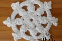 Granny / Des granny au crochet, square, circle, freeform ...