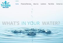 Tri-State Water / Here is some of our work on our logo and web design project for Tri-State Water! http://tristatebottledwater.com View the blog of this project at: http://bit.ly/1z7HQAj