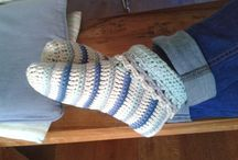Gehaakte sloffen, sjaals & handschoenen